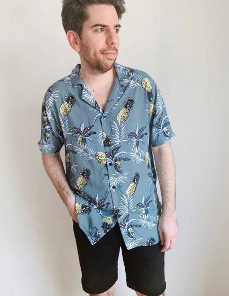 camisa piñas cuba solid sommes demode