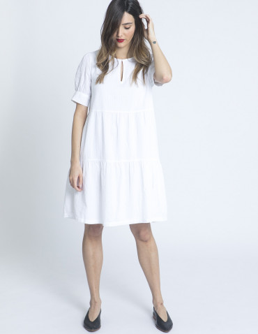 vestido blanco gyrith ichi sommes demode