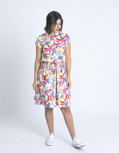vestido camisero flores multicolor compañia fantastica sommes demode