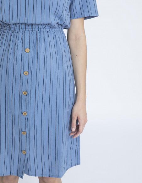 vestido azul rayas ywisse blendshe sommes demode
