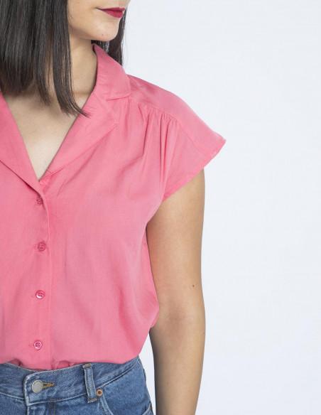 camisa estilo pijama rosa compañia fantastica sommes demode
