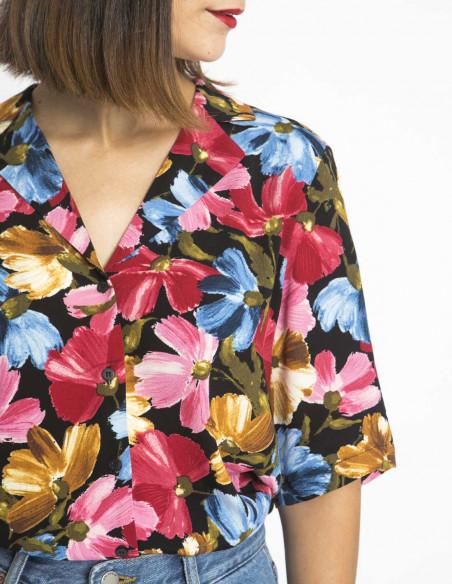 camisa flores allure ichi sommes demode zaragoza