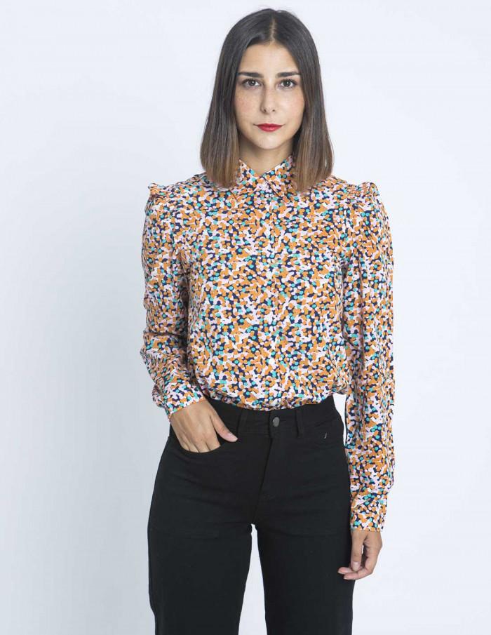 camisa puntos de colores compañia fantastica sommes demode