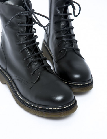 botas militares famy negro musse and cloud sommes demode