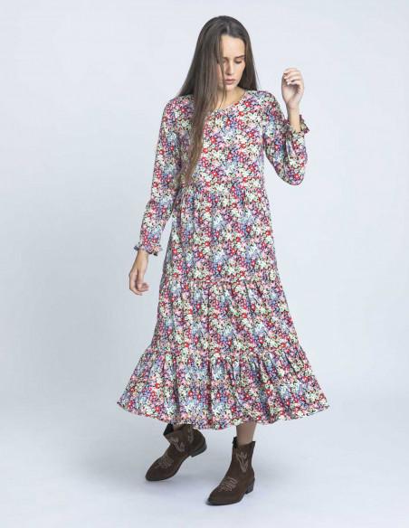 vestido largo florecillas compañia fantastica sommes demode