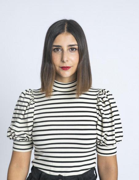 Top Rayas Sofia Negro Maggie Sweet Sommes Demode Zaragoza