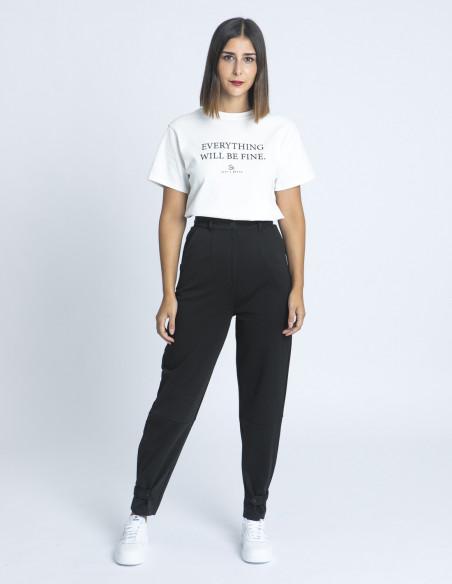 Pantalon Kate Trend Negro Ichi Sommes Demode Zaragoza