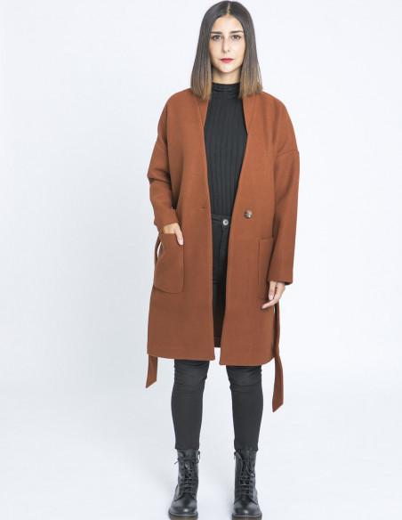 abrigo marron amalia desires sommes demode zaragoza