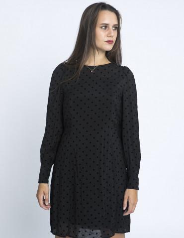 vestido negro lunares amali desires sommes demode zaragoza