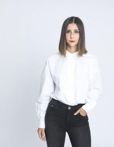 camisa oversize abarna blanco desires sommes demode zaragoza