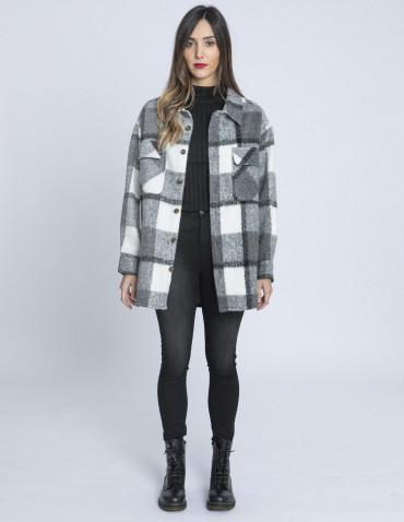 abrigo oversize cuadros blend she sommes demode zaragoza