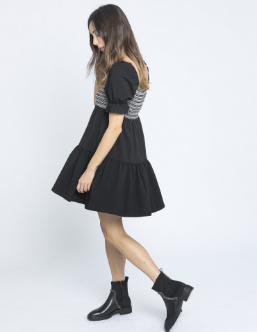 vestido fiorella negro maggie sweet sommes demode zaragoza