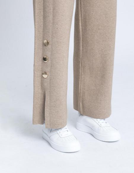 pantalon botones beige skatïe sommes demode zaragoza