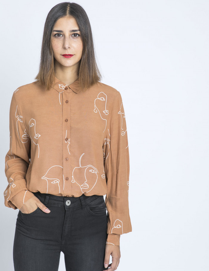 camisa faces caramel carissa ichi sommes demode