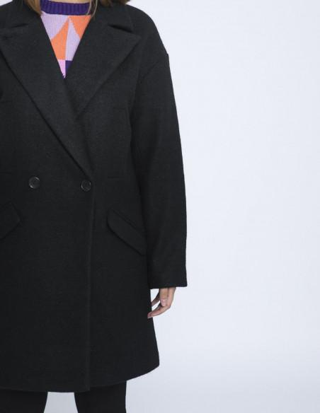 abrigo enrika negro ichi sommes demode zaragoza