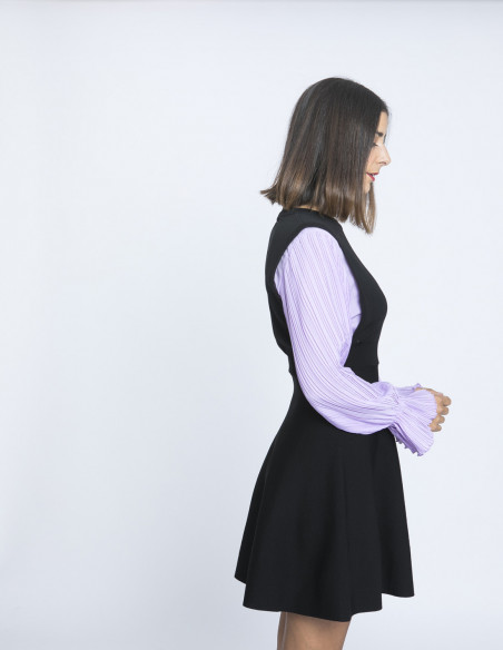 vestido mangas plisadas kling sommes demode zaragoza