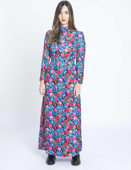 vestido largo flores kling sommes demode zaragoza
