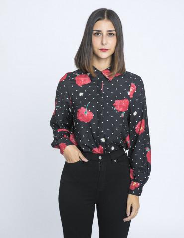 blusa lunares y rosas kling sommes demode zaragoza