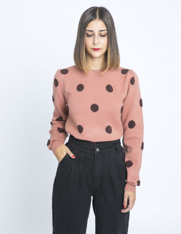 jersey lunares en relieve rosa compañia fantastica sommes demode zaragoza
