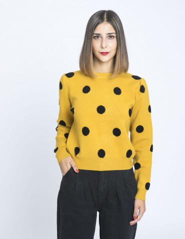 jersey lunares en relieve amarillo compañia fantastica sommes demode zaragoza