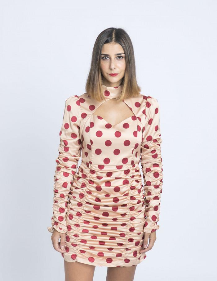 vestido lunares peach glamorous sommes demode zaragoza