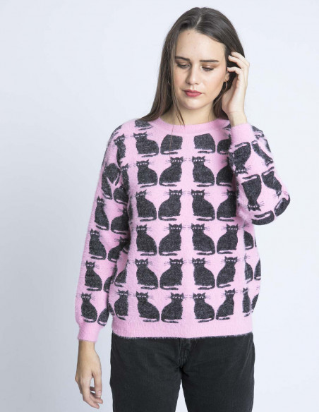 jersey rosa gatos kling sommes demode zaragoza