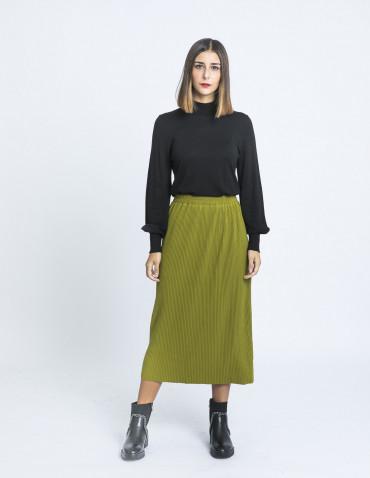 falda midi efecto pana verde compañia fantastica sommes demode zaragoza