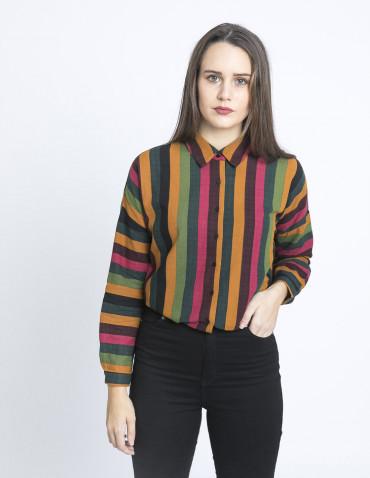 camisa oversize estampado rayas compañia fantastica sommes demode zaragoza