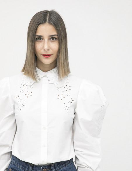 camisa blanca cuello bobo glamorous sommes demode zaragoza