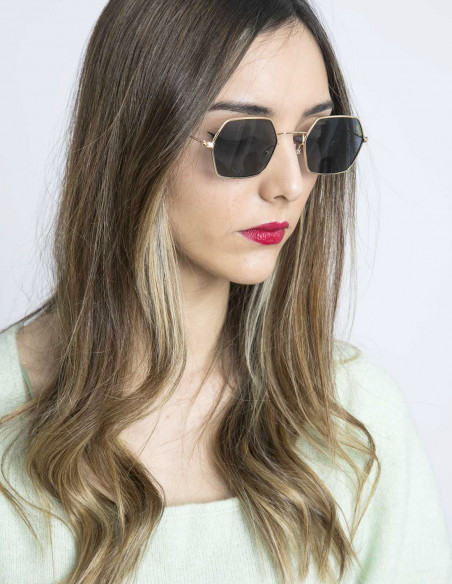 gafas de sol colbert gold black minue opticians sommes demode zaragoza