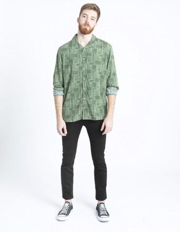camisa verde poe solid sommes demode zaragoza