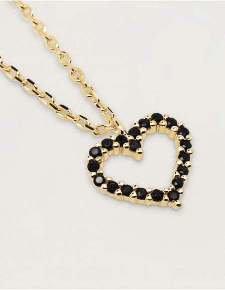 collar black heart sommes demode zaragoza