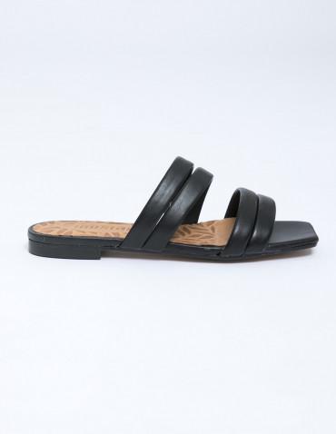 sandalias piel negro mustang sommes demode zaragoza
