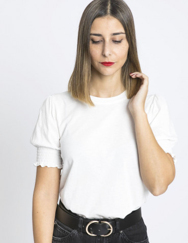 camiseta nido de abeja blanco skatie sommes demode zaragoza