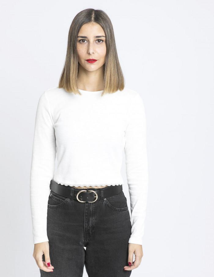 camiseta crop blanco glamorous sommes demode zaragoza