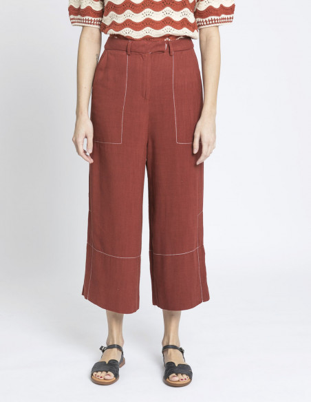 pantalon lino amber skatie sommes demode zaragoza