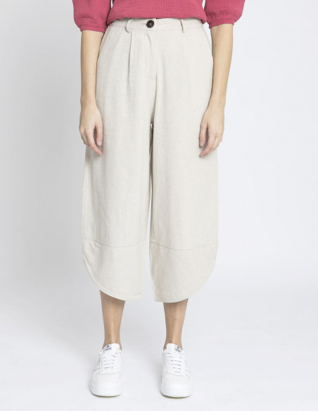 pantalon lino beige skatie sommes demode zaragoza