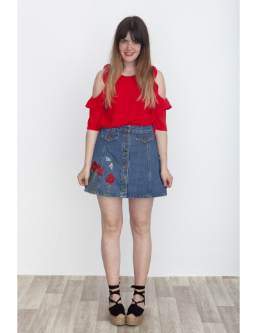 FALDA DENIM POPPY