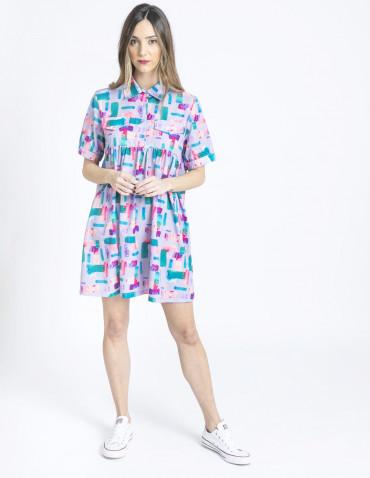 vestido lila acuarela kling sommes demode zaragoza