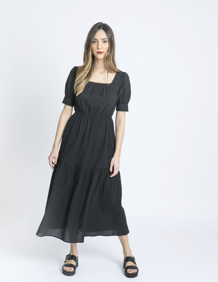 vestido largo negro see u soon sommes demode zaragoza