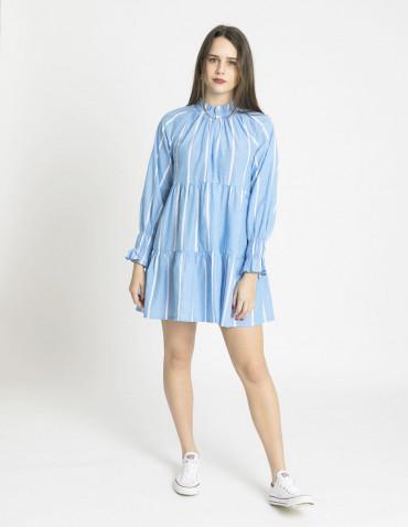 vestido corto azul rayas blancas wild pony sommes demode zaragoza