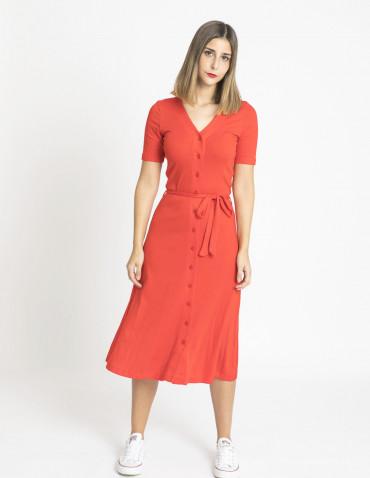 vestido midi erica rojo king louie sommes demode zaragoza