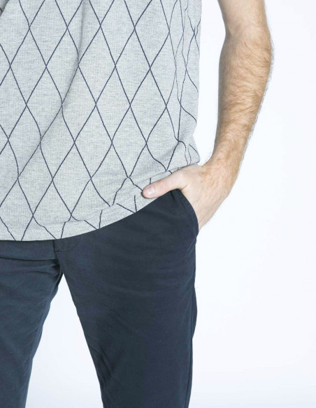 pantalon chino clark azul dr denim sommes demode zaragoza
