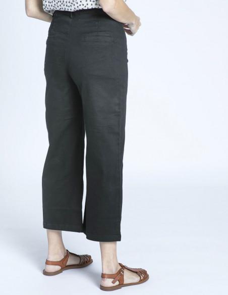 pantalon cropped negro meisie sommes demode zaragoza