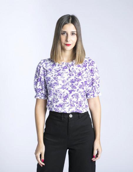 blusa flores lilas colletia frnch sommes demode zaragoza