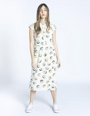 vestido midi estampado sushi compañia fantastica zaragoza