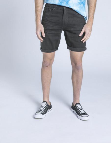 pantalon corto denim ryder negro solid sommes demode zaragoza