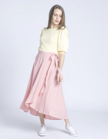 falda rosa cuadros edenn frnch sommes demode zaragoza