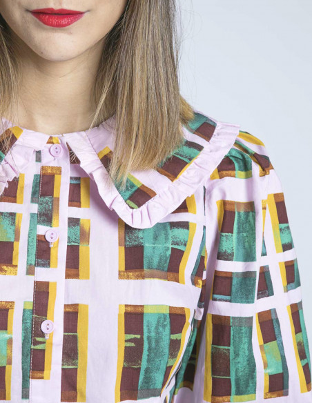 camisa geometría cuello bobo glamorous sommes demode zaragoza