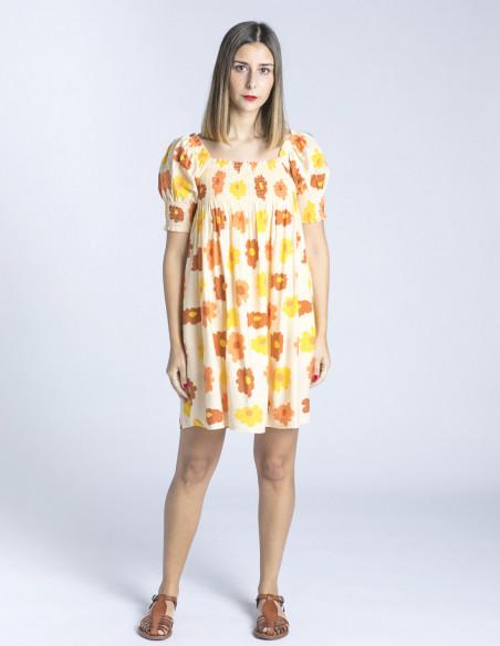 vestido babydoll flores naranjas wild pony sommes demode zaragoza
